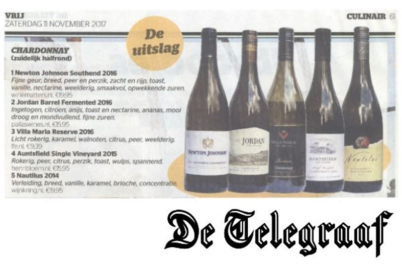 Jordan scoort in Telegraaf Winterwijnentest